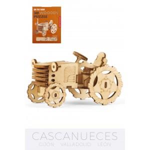 PUZLE 3D TRACTOR DE MADERA