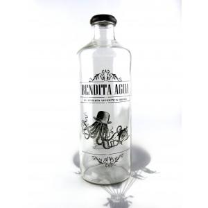 botella vintage bendita agua - cascanueces